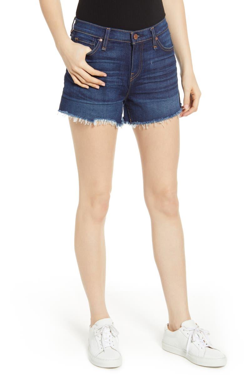 HUDSON JEANS Gemma Cutoff Denim Shorts, Main, color, NIGHTFALL