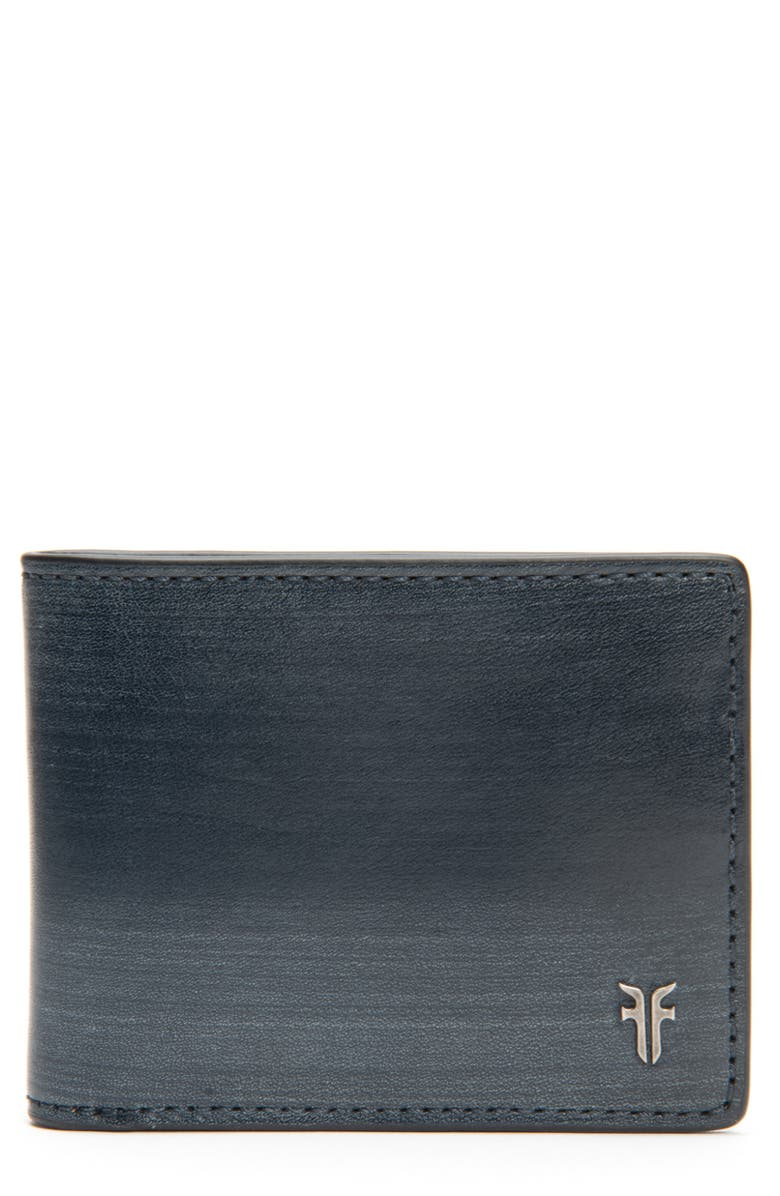 FRYE Austin ID Slim Leather Billfold, Main, color, NAVY