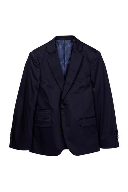 Image of Isaac Mizrahi Notch Collar Solid Blazer