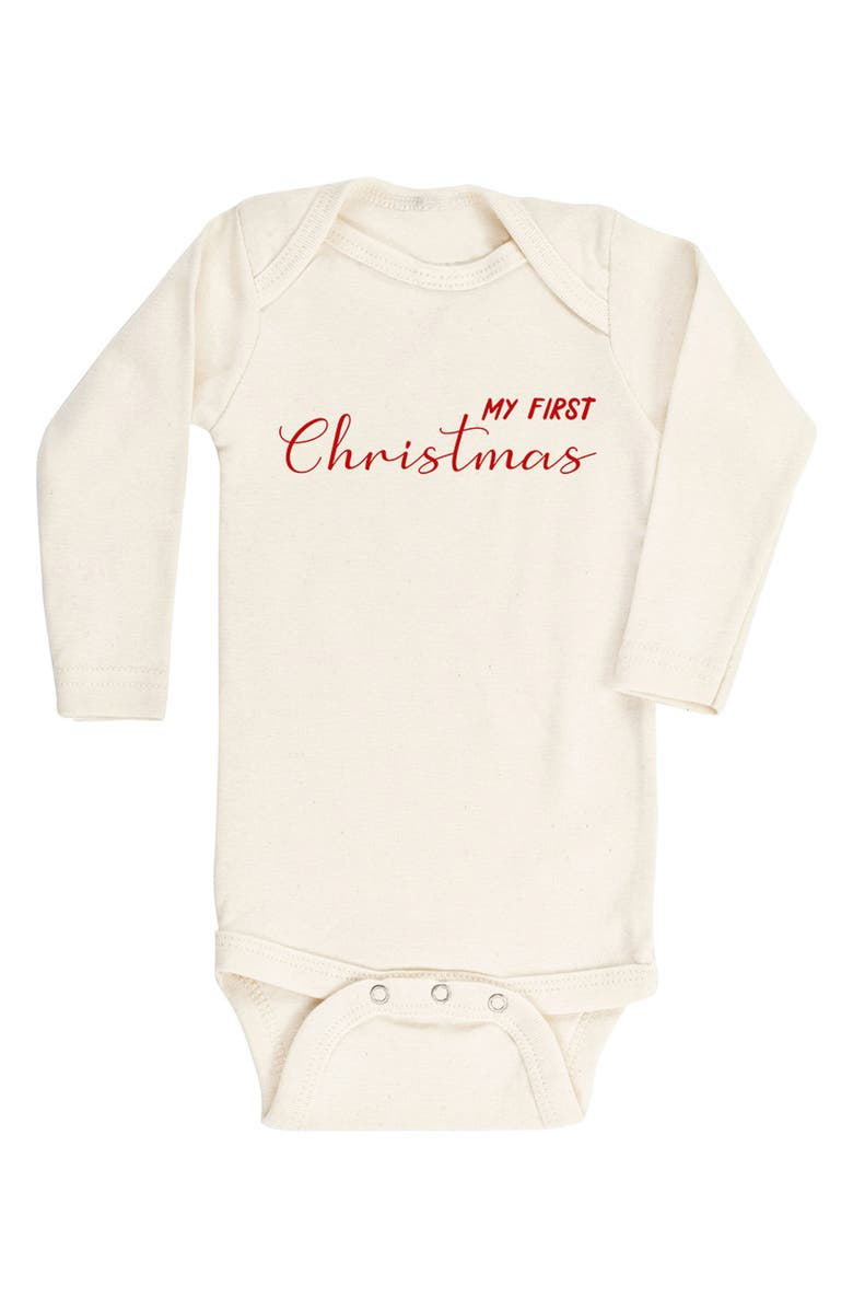 TENTH & PINE My First Christmas Organic Cotton Bodysuit, Main, color, 900