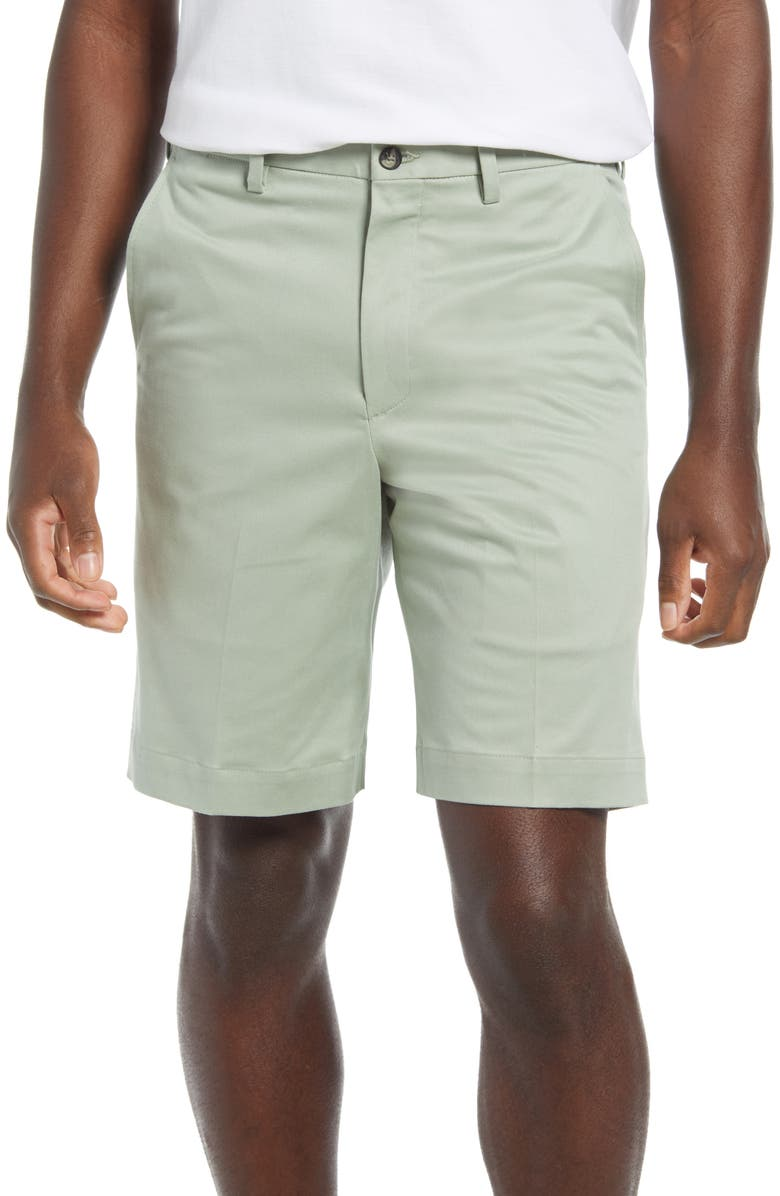 VINTAGE 1946 Men's Classic Flat Front Chino Shorts, Main, color, SAGE