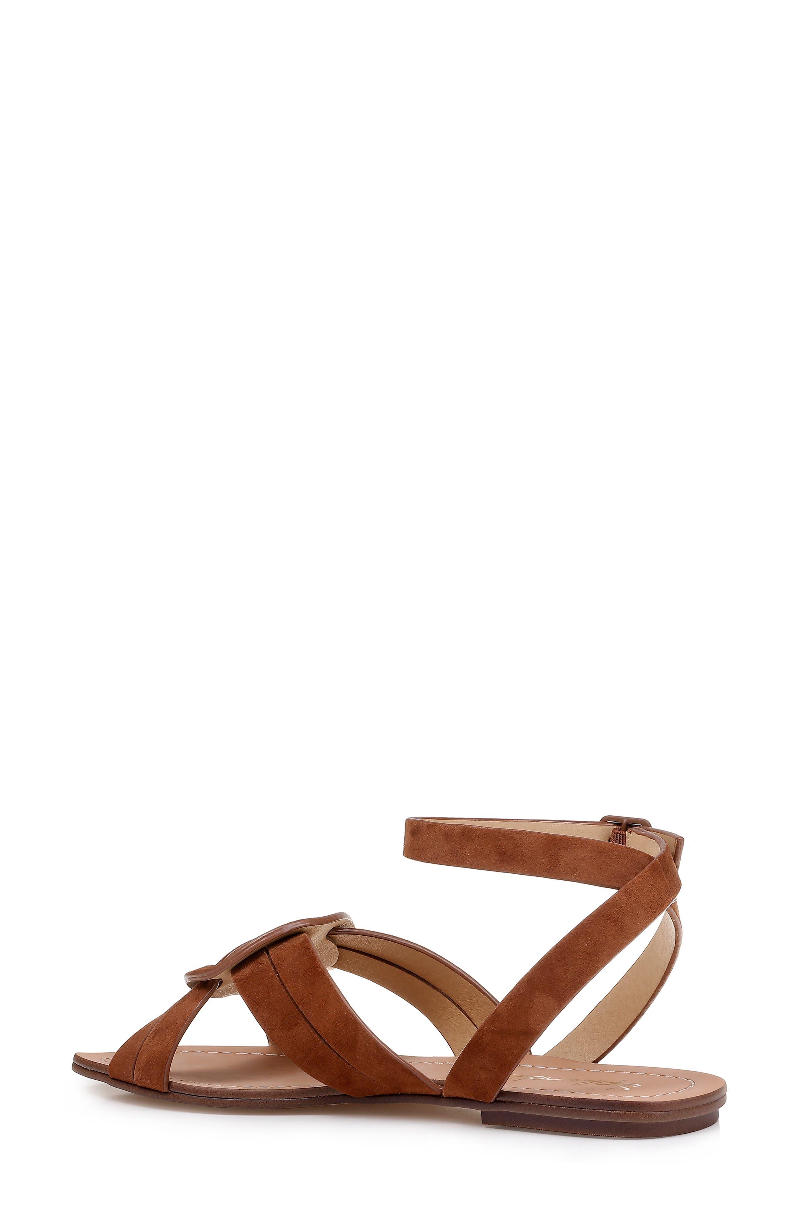 ,                             Talea Ankle Strap Sandal,                             Alternate thumbnail 2, color,                             CHESTNUT SUEDE
