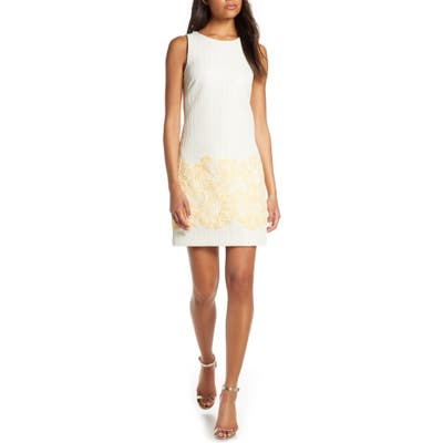 Petite Vince Camuto Sleeveless Shift Dress, Ivory