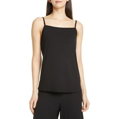 Eileen Fisher Square Neck Camisole, Black