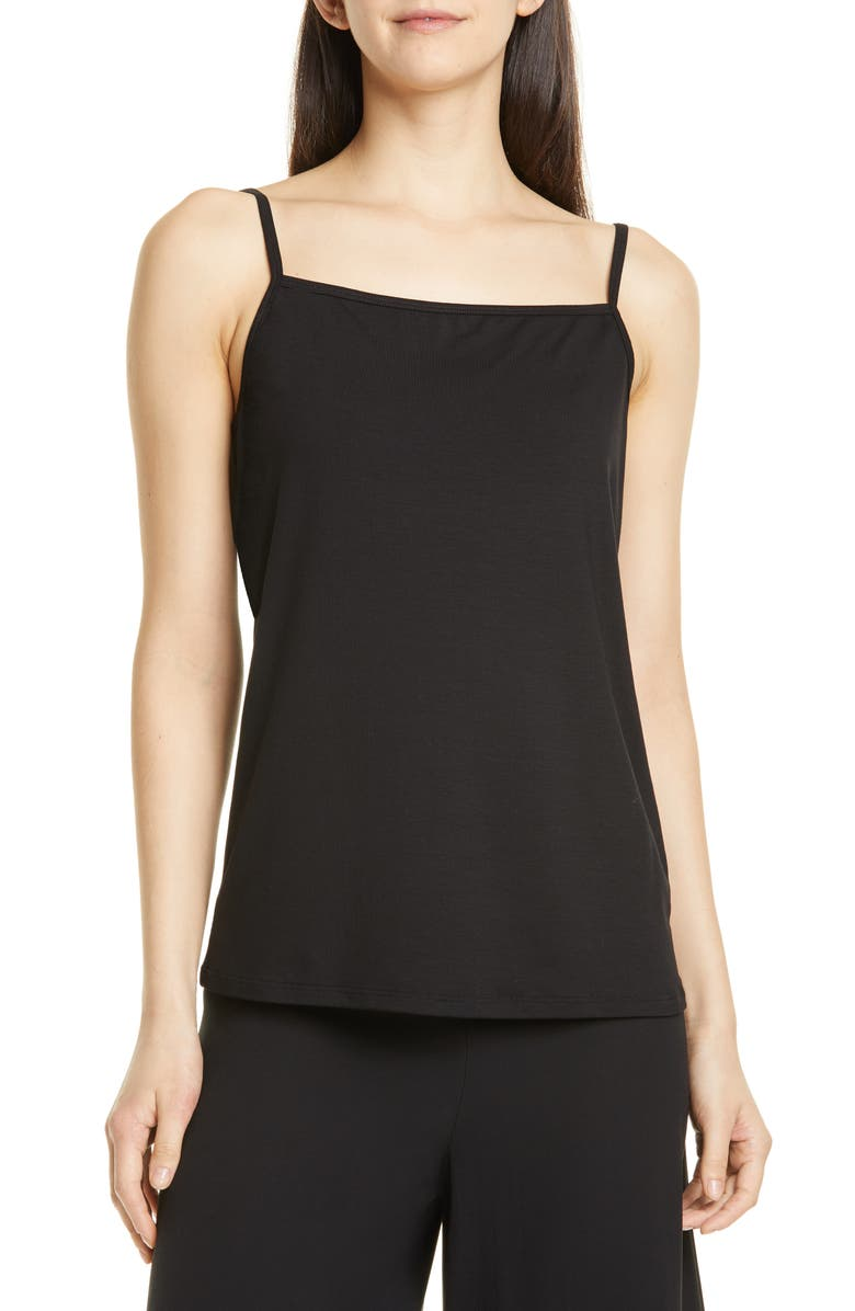EILEEN FISHER Square Neck Camisole, Main, color, 001