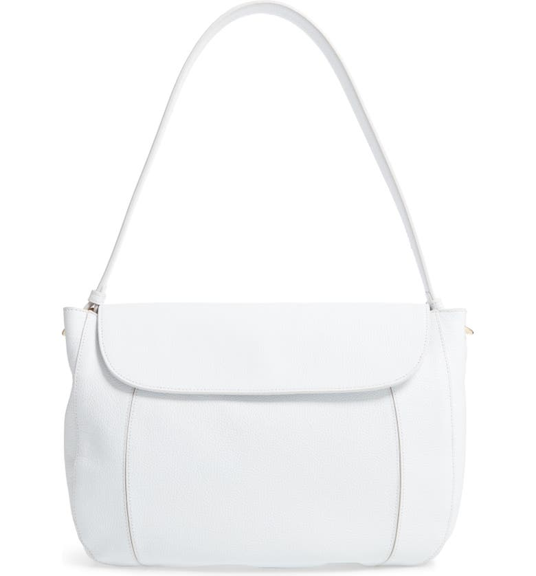 NORDSTROM Farah Hobo Bag, Main, color, WHITE BRILLIANT
