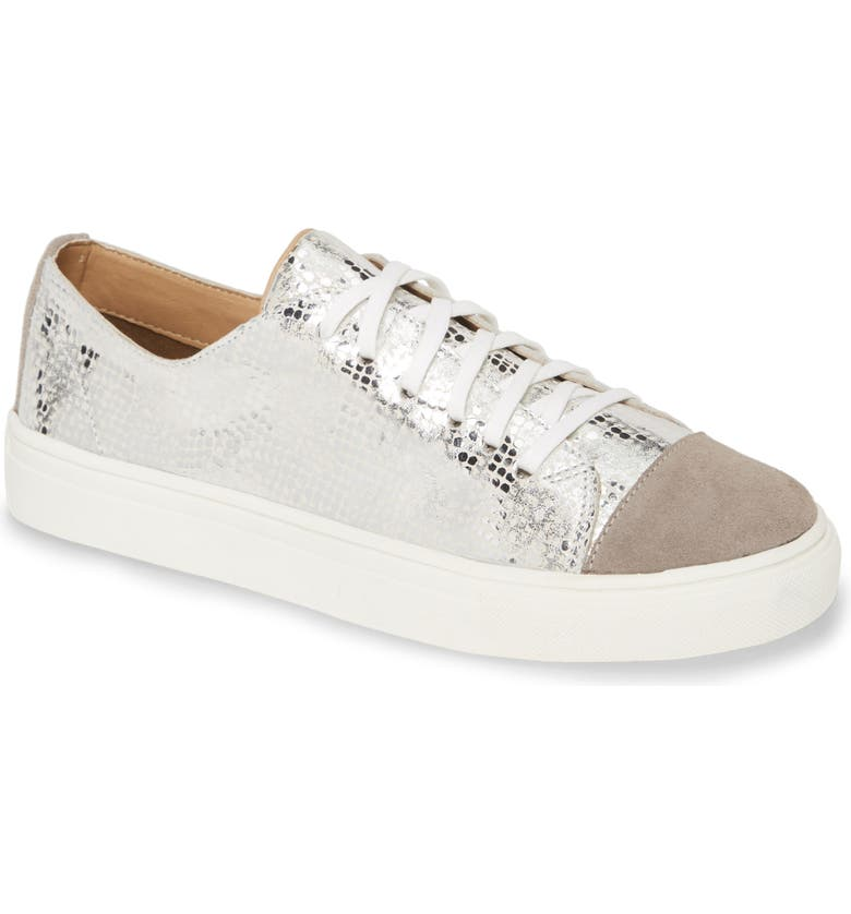 KAANAS Zagreb Sneaker, Main, color, SILVER LEATHER