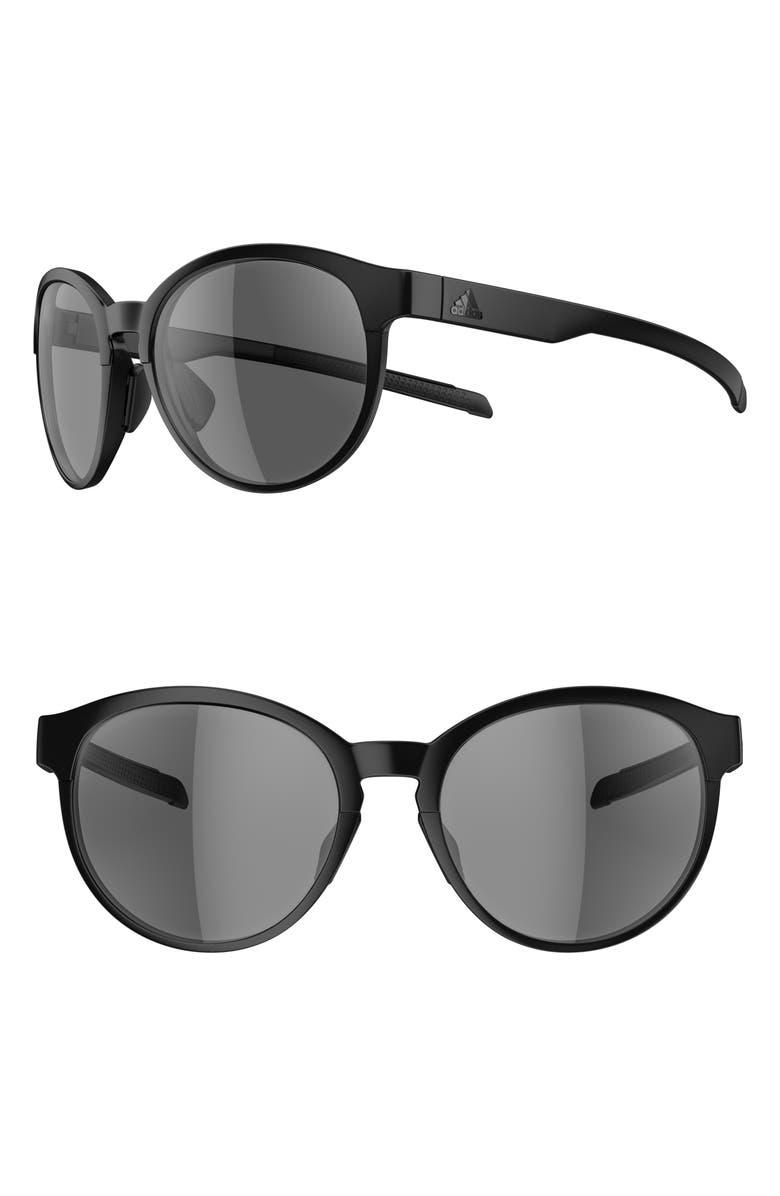 ADIDAS Beyonder 55mm Training Sunglasses, Main, color, BLACK MATTE/ GREY