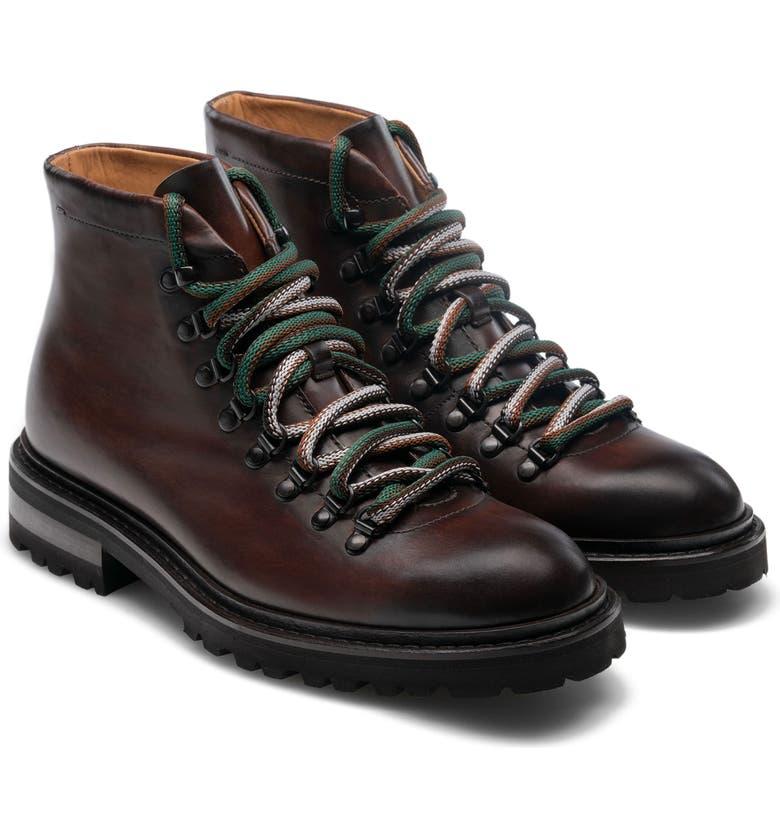 MAGNANNI Montana II Plain Toe Boot, Main, color, TABACO