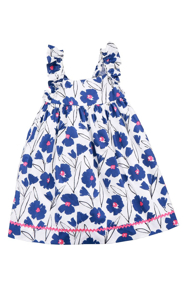 BUSY BEES Sawyer Dress, Main, color, BLUE FLORAL