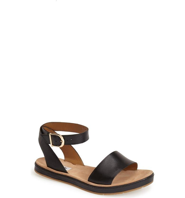 CLARKS<SUP>®</SUP> 'Romantic Moon' Ankle Strap Sandal, Main, color, 001