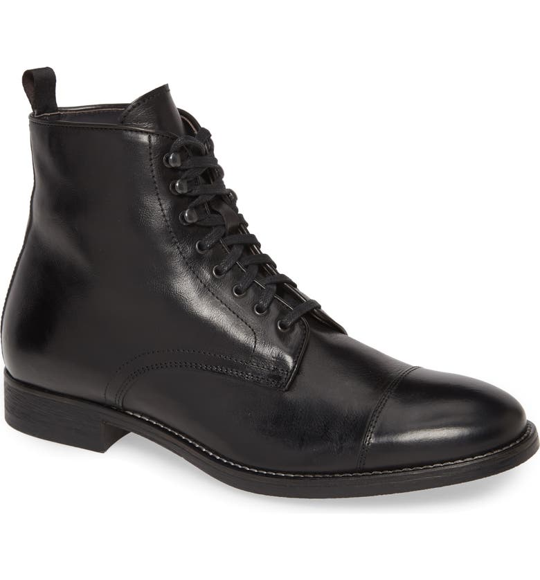TO BOOT NEW YORK Richmond Cap Toe Lace-Up Boot, Main, color, BLACK