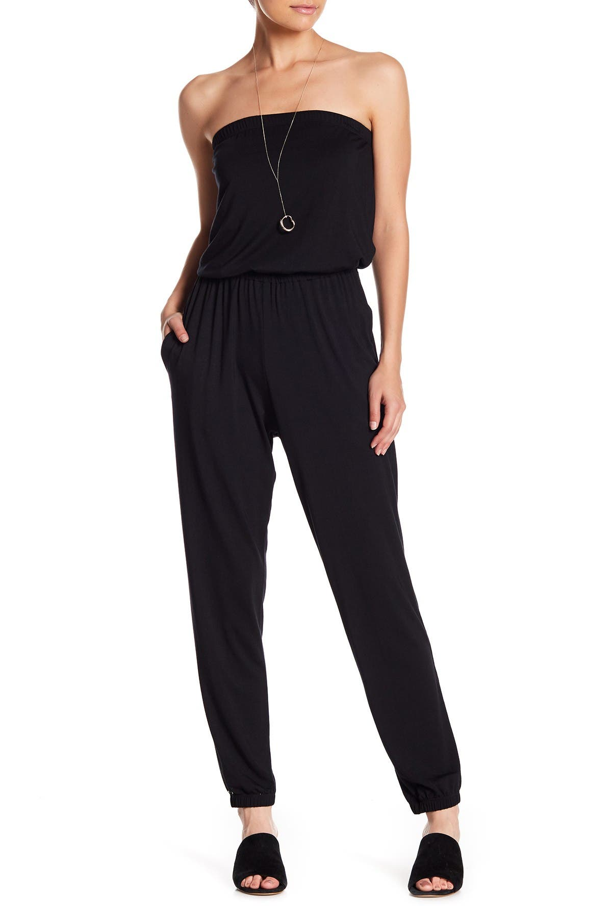 Image of Go Couture Kaitlyn Strapless Jumpsuit
