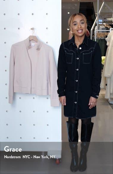 Zip Front Cotton Blend Jacket, sales video thumbnail