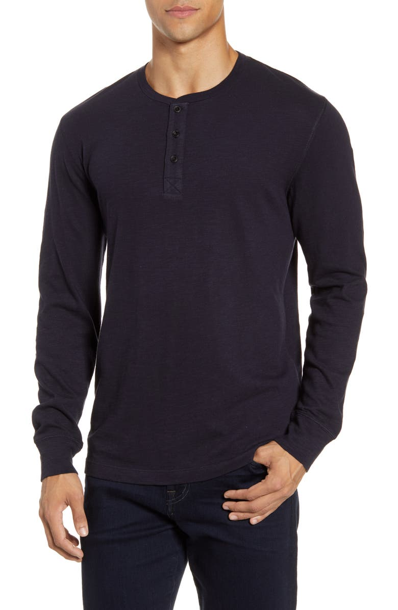 Long Sleeve Slub Henley by French Connection