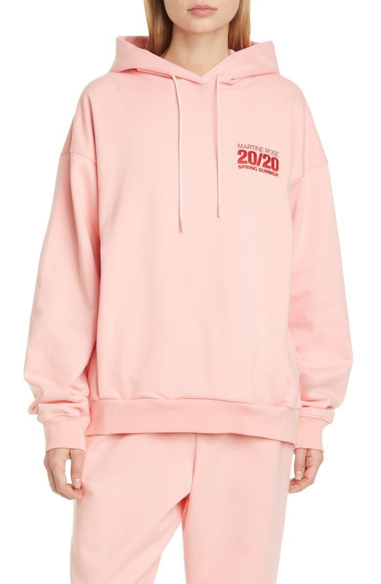 MARTINE ROSE 2020 Hoodie, Main, color, PEACH