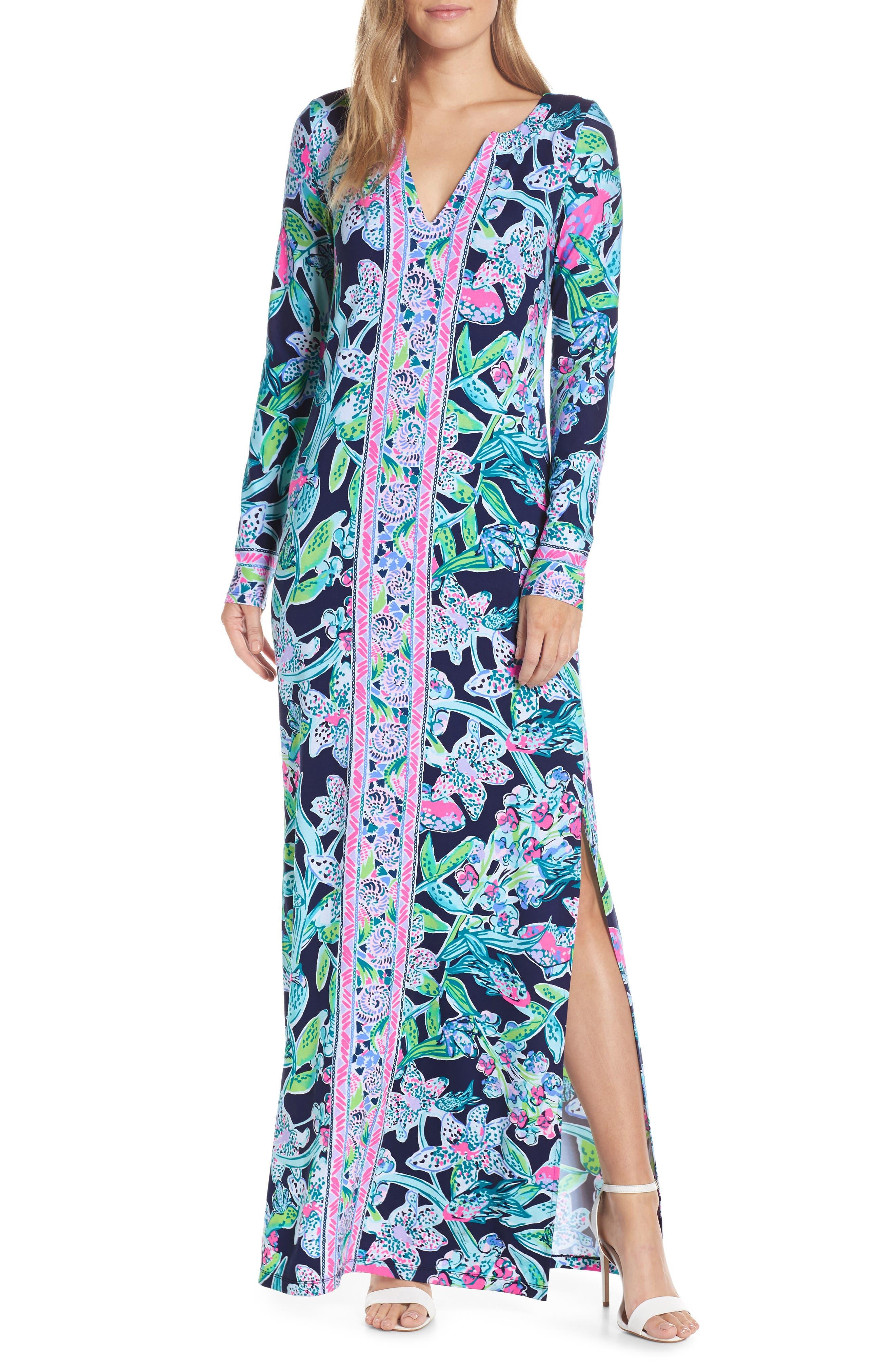 Lilly Pulitzer Faye Upf 50+ Maxi Dress, Blue