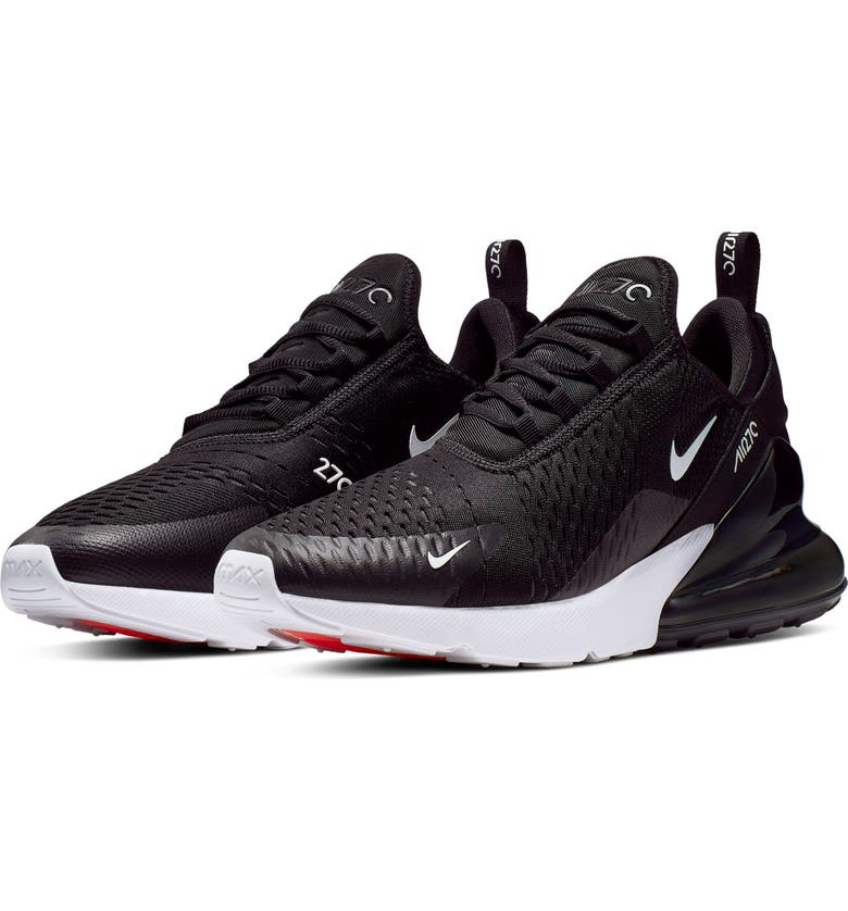 NIKE Air Max 270 Sneaker, Main, color, BLACK/ ANTHRACITE/ WHITE/ RED
