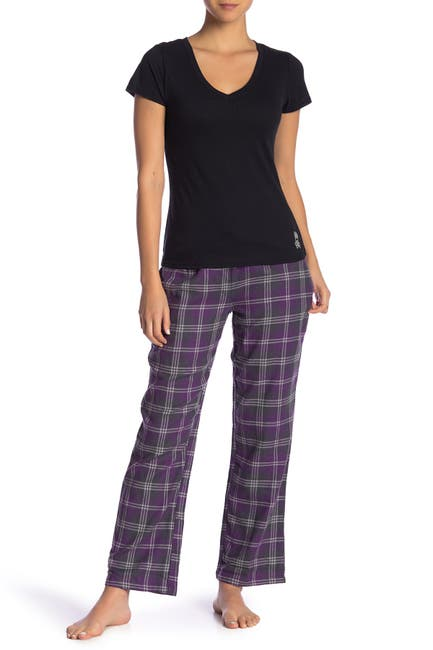 Image of Psycho Bunny Plaid Flannel Pajama 2-Piece Set