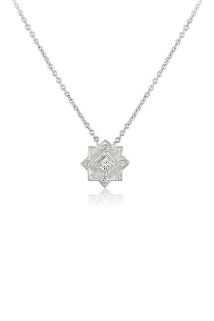 Image of LEGEND AMRAPALI SILVER Sterling Silver Heritage Star of Lakshmi White Diamond Pendant Necklace - 0.41 ctw