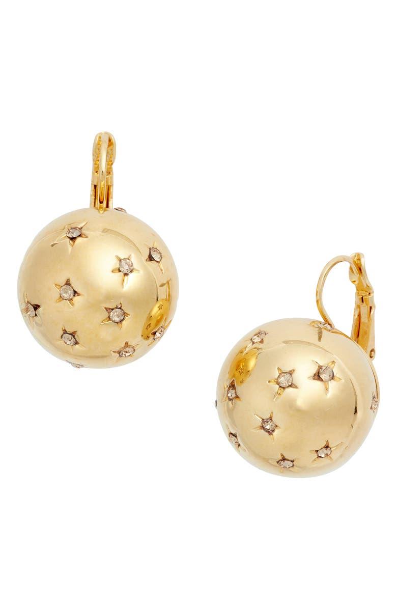GAS BIJOUX Comette Sphere Earrings, Main, color, GOLD