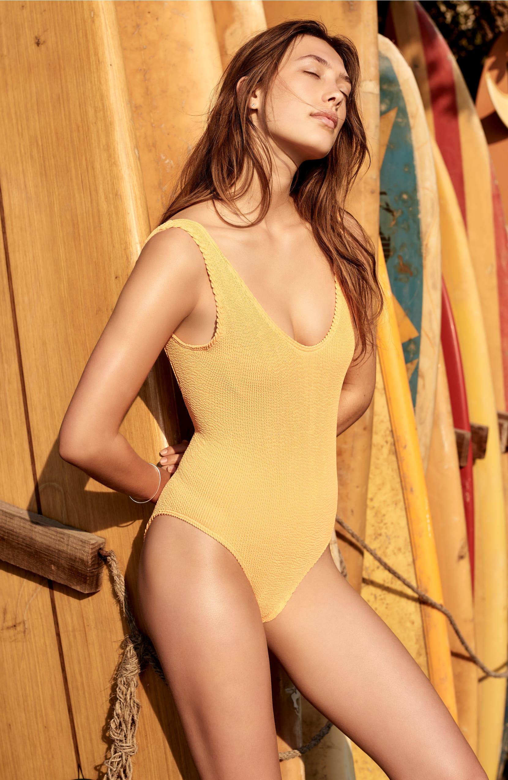 e8b1965ec217d BOUND by Bond-Eye The Mara Ribbed One-Piece Swimsuit | Nordstrom