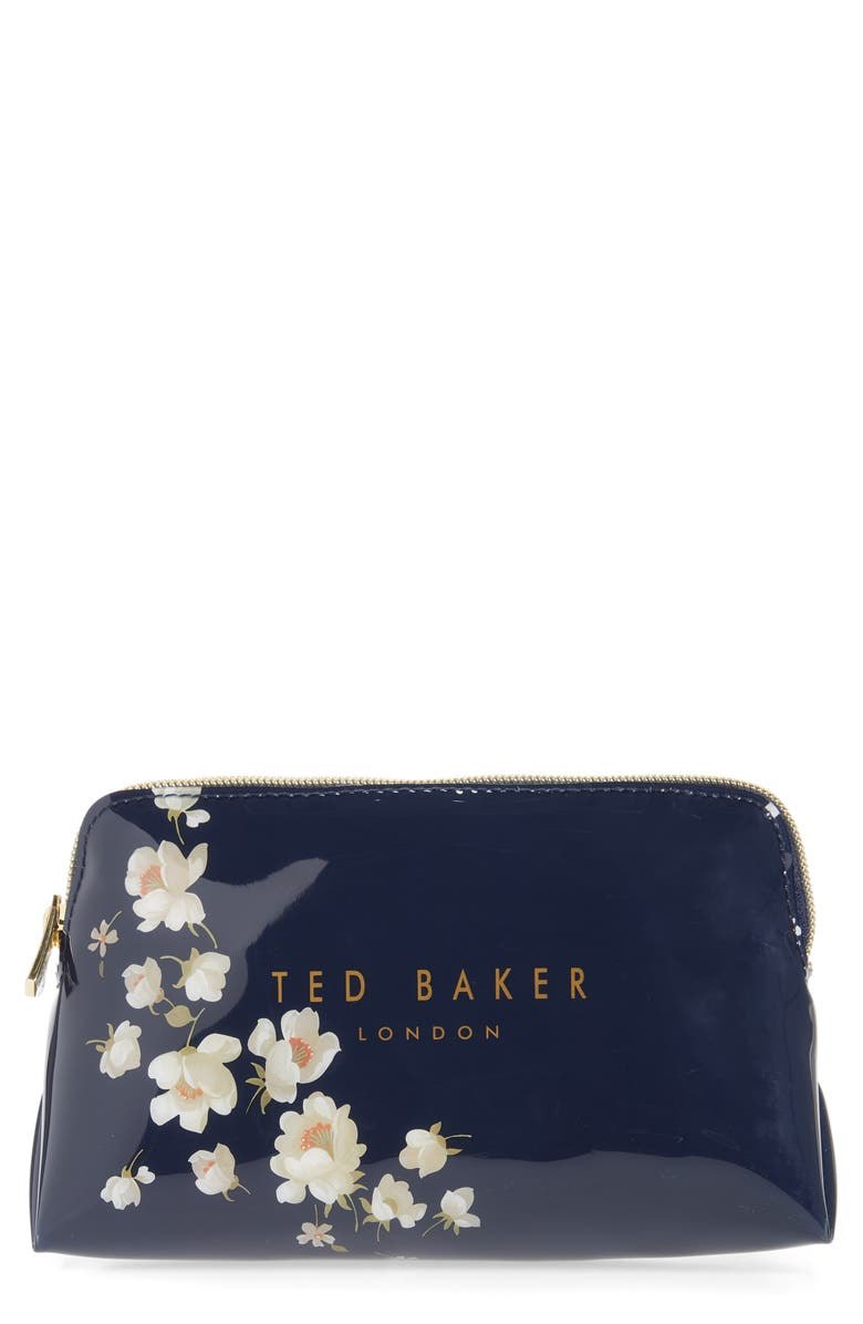 TED BAKER LONDON Adelahpearl Cosmetics Case, Main, color, DARK BLUE
