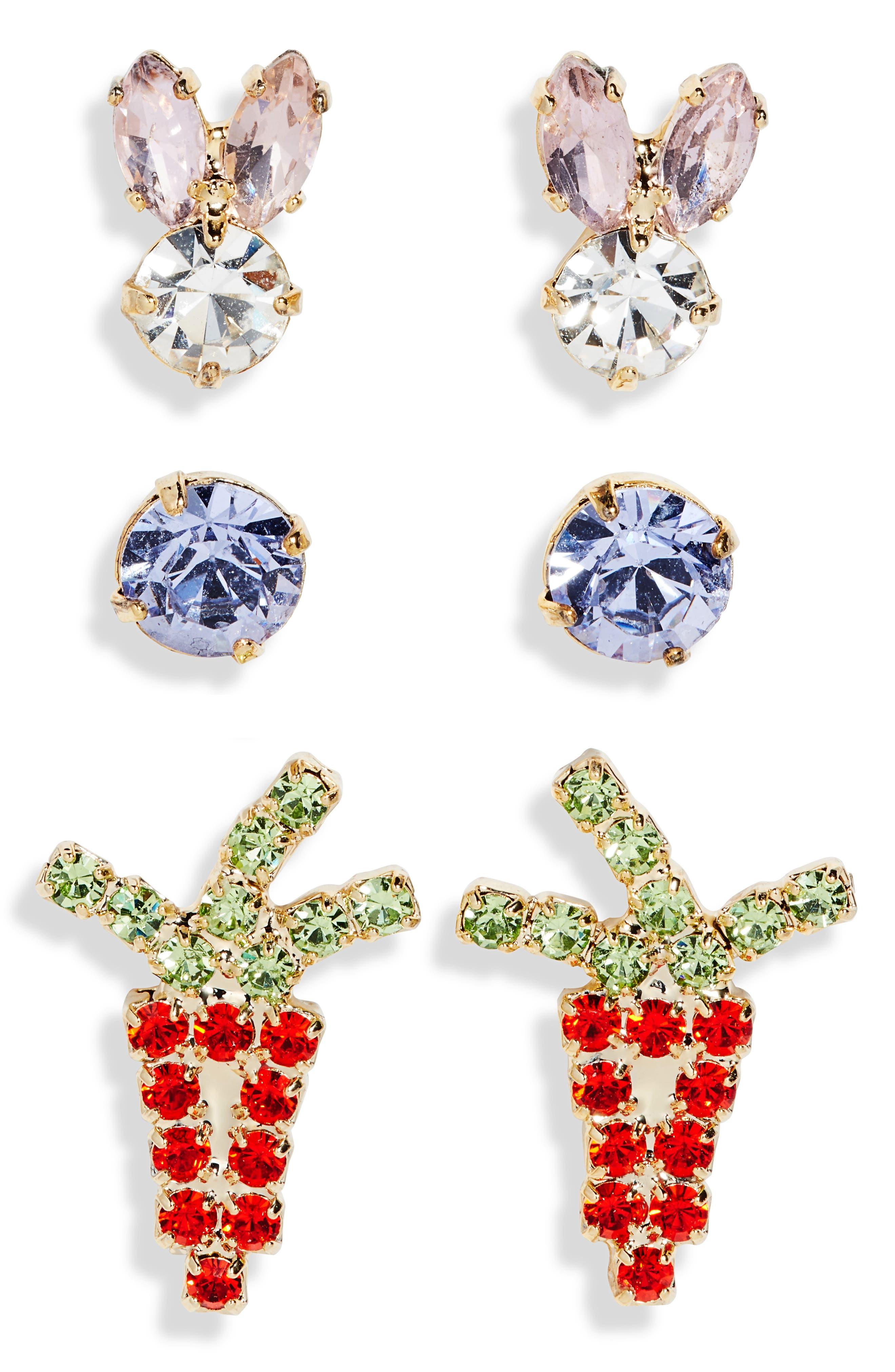 Happy Easter Set Of 3 Stud Earrings