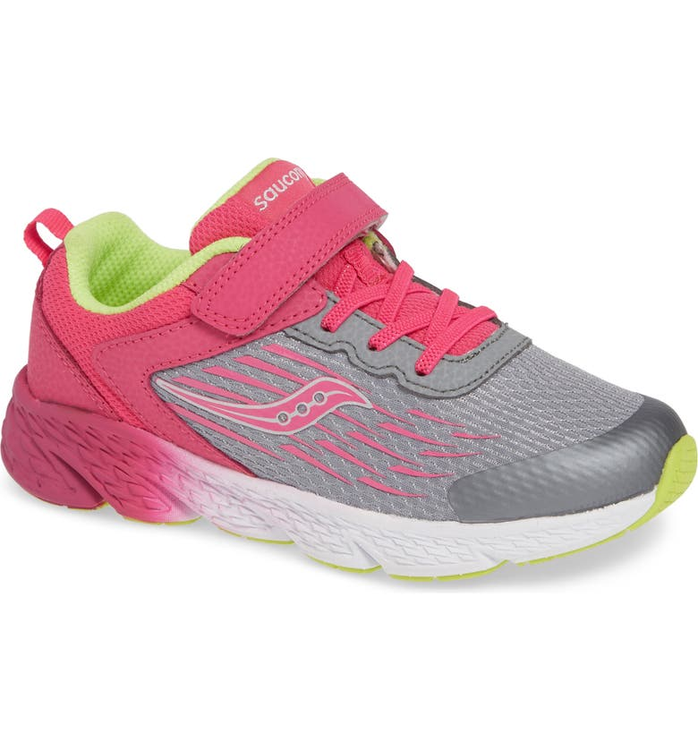 SAUCONY Wind A/C Sneaker, Main, color, GREY/ PINK