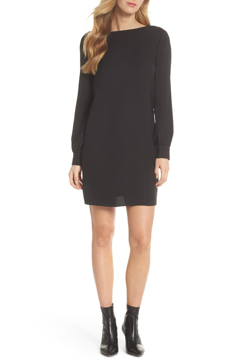 CHELSEA28 V-Back Shift Dress, Main, color, 001
