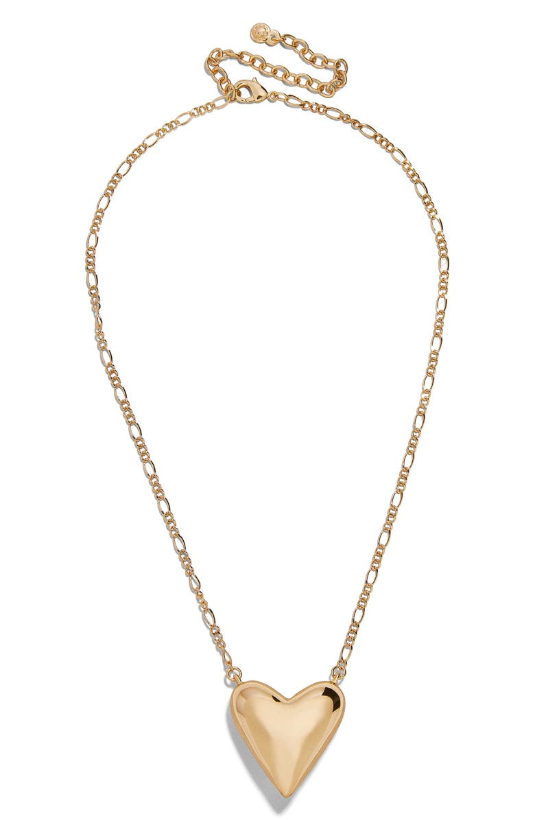 BAUBLEBAR Heart Pendant Necklace, Main, color, GOLD