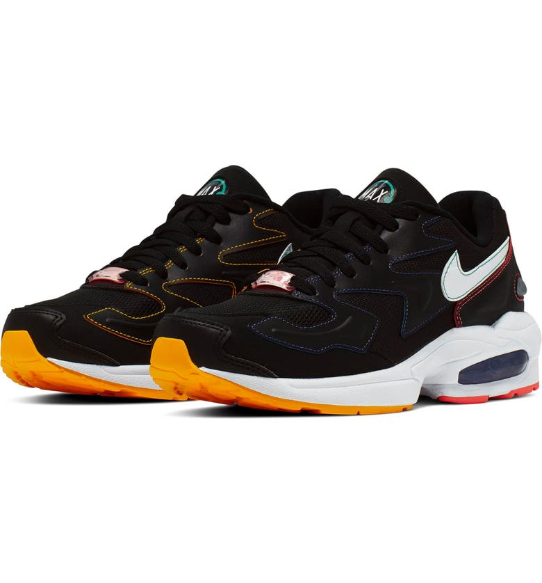 NIKE Air Max2 Light Sneaker, Main, color, BLACK/ WHITE/ PSYCHIC PURPLE