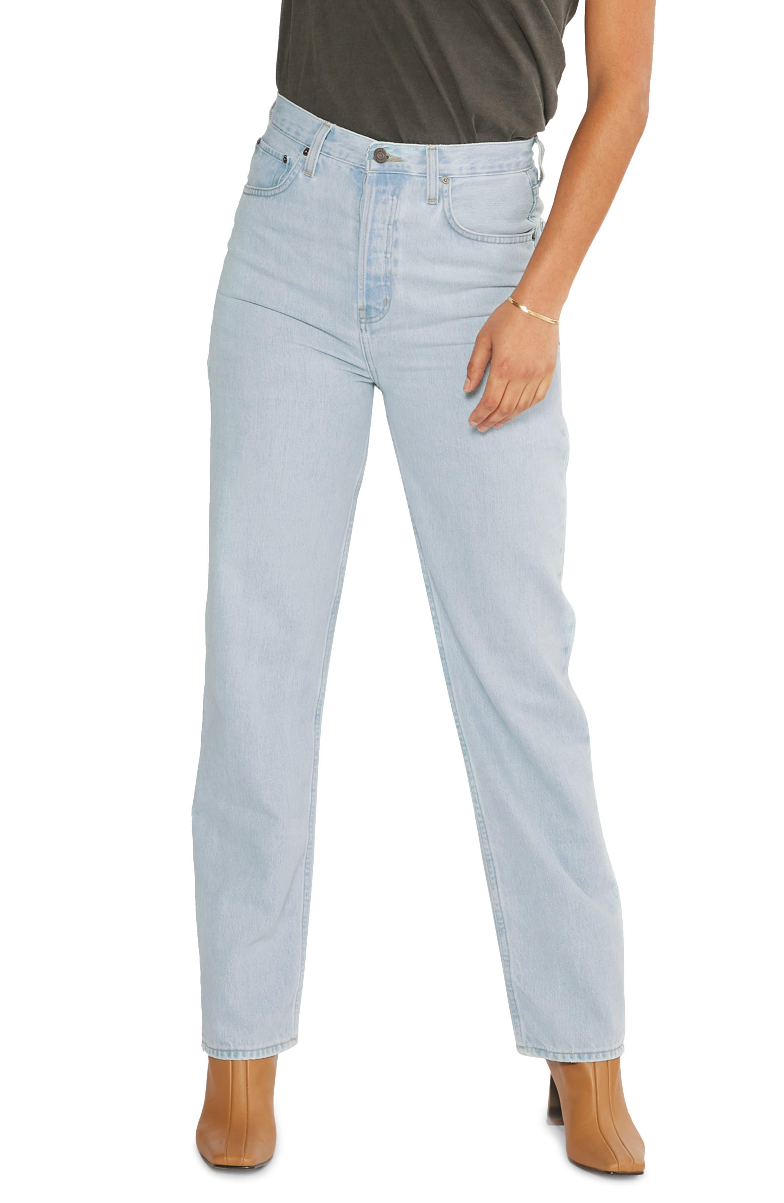 Women's Etica Carine Super High Waist Straight Leg Jeans