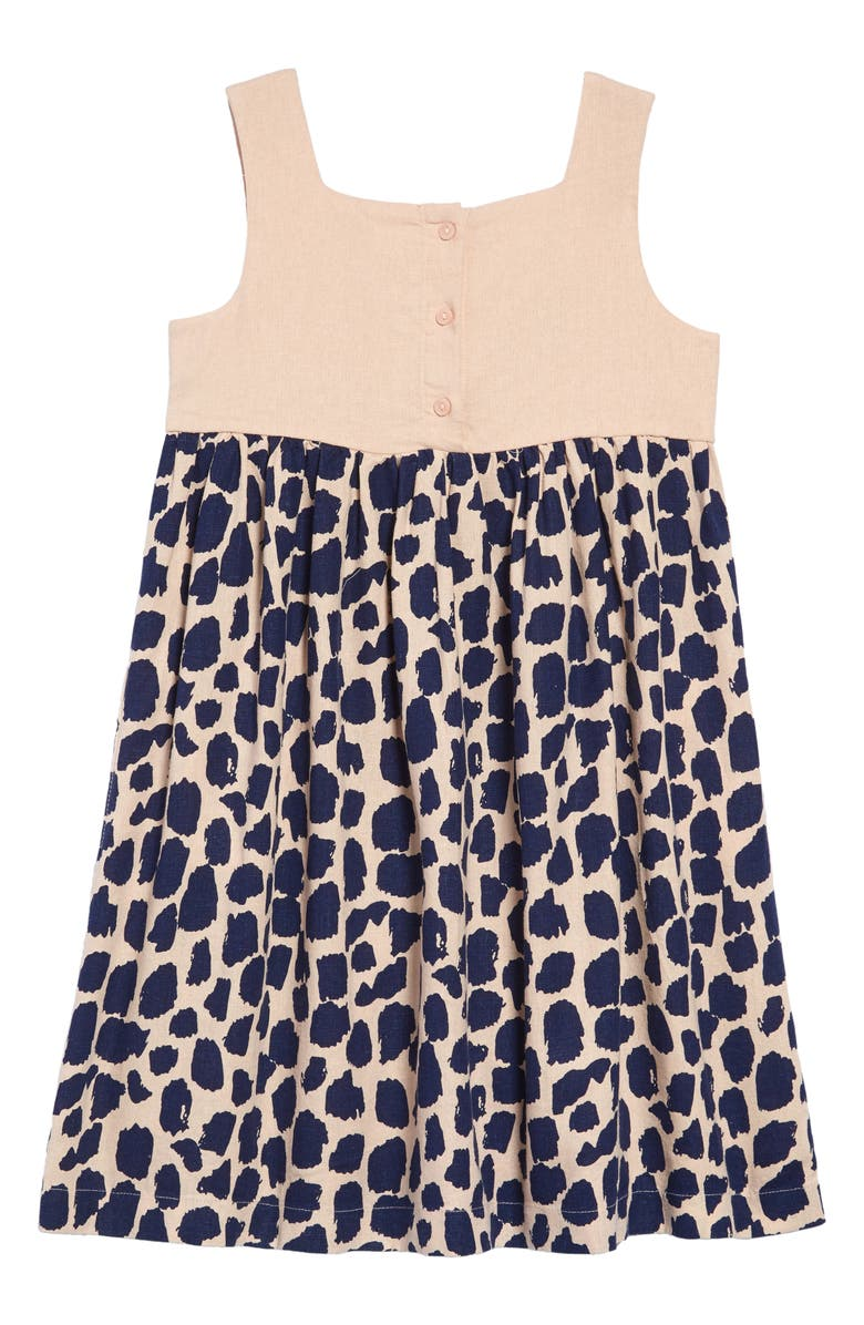 SOMETHING NAVY Animal Print Picnic Dress, Main, color, 680