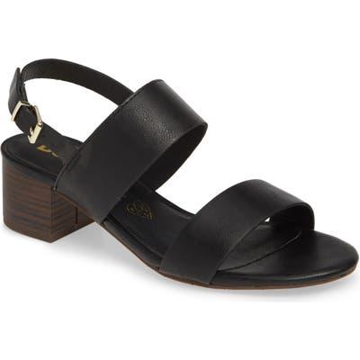 Bc Footwear Gardenia Vegan Leather Sandal, Black