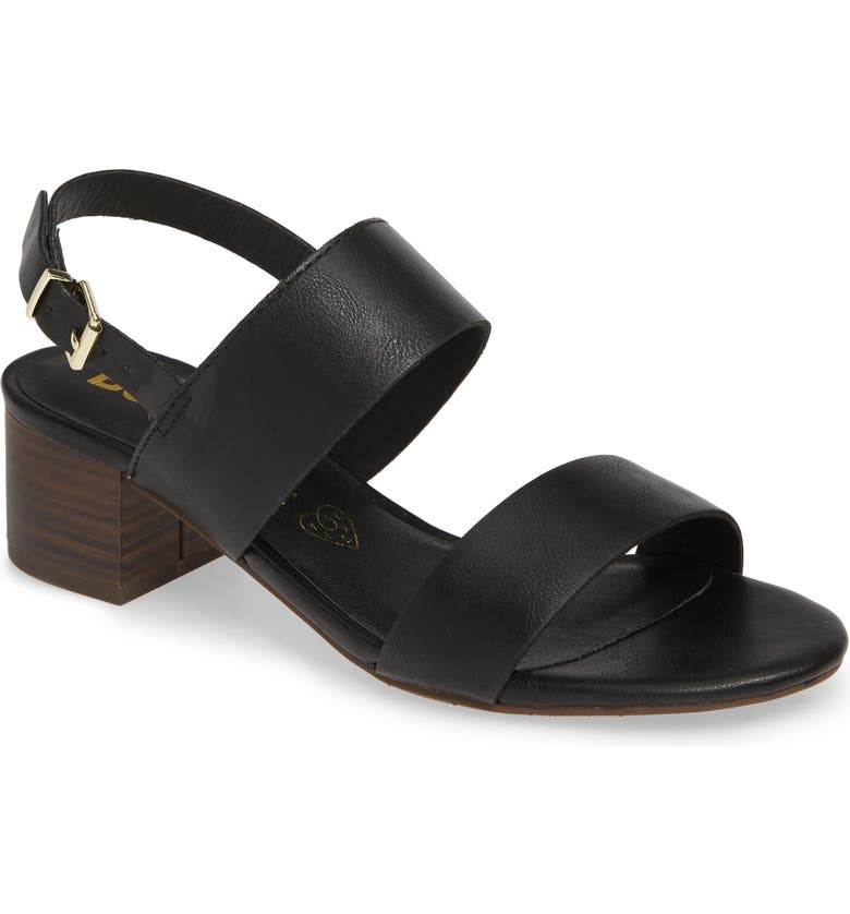 BC FOOTWEAR Gardenia Vegan Leather Sandal, Main, color, BLACK