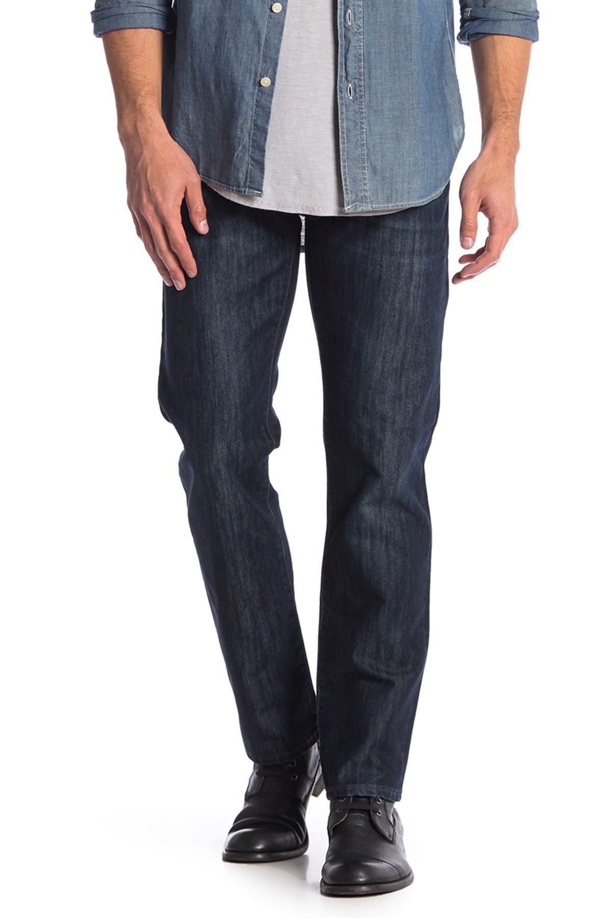 "Image of Mavi Zach Rinse Brushed Manhattan Straight Leg Jeans - 30-34"" Inseam"