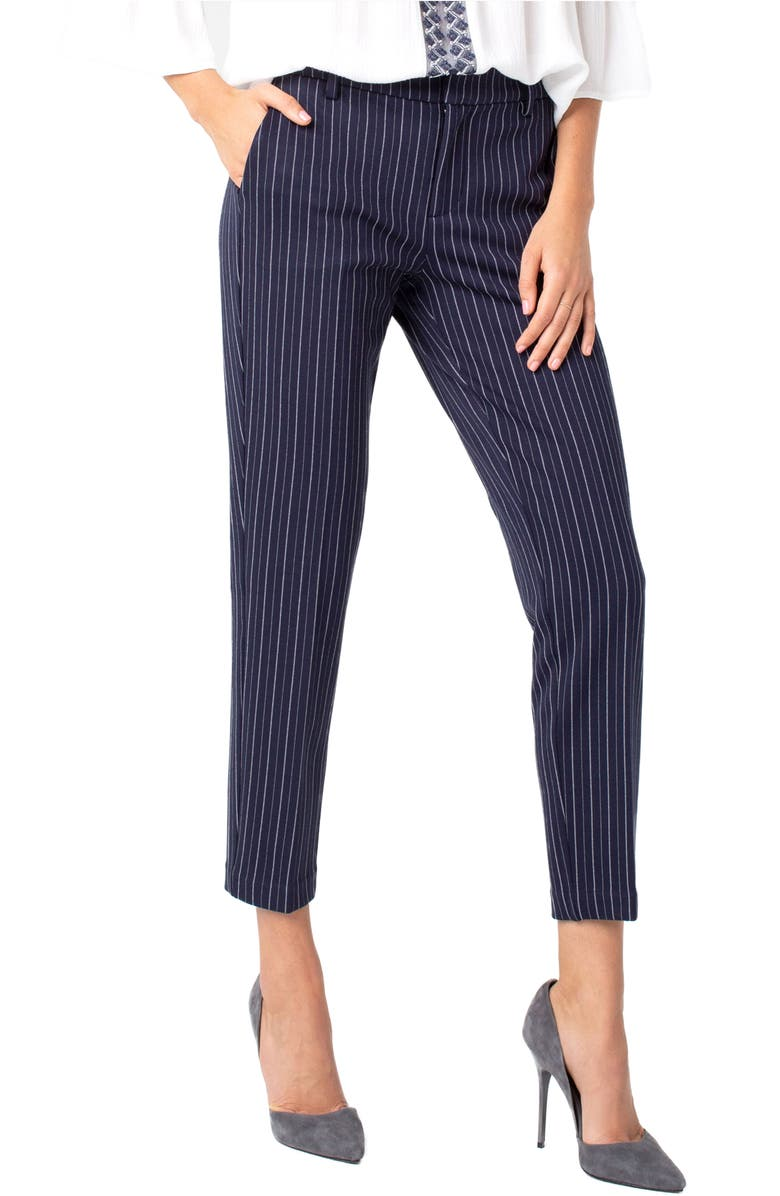 LIVERPOOL Kelsey Stripe Knit Trousers, Main, color, 400