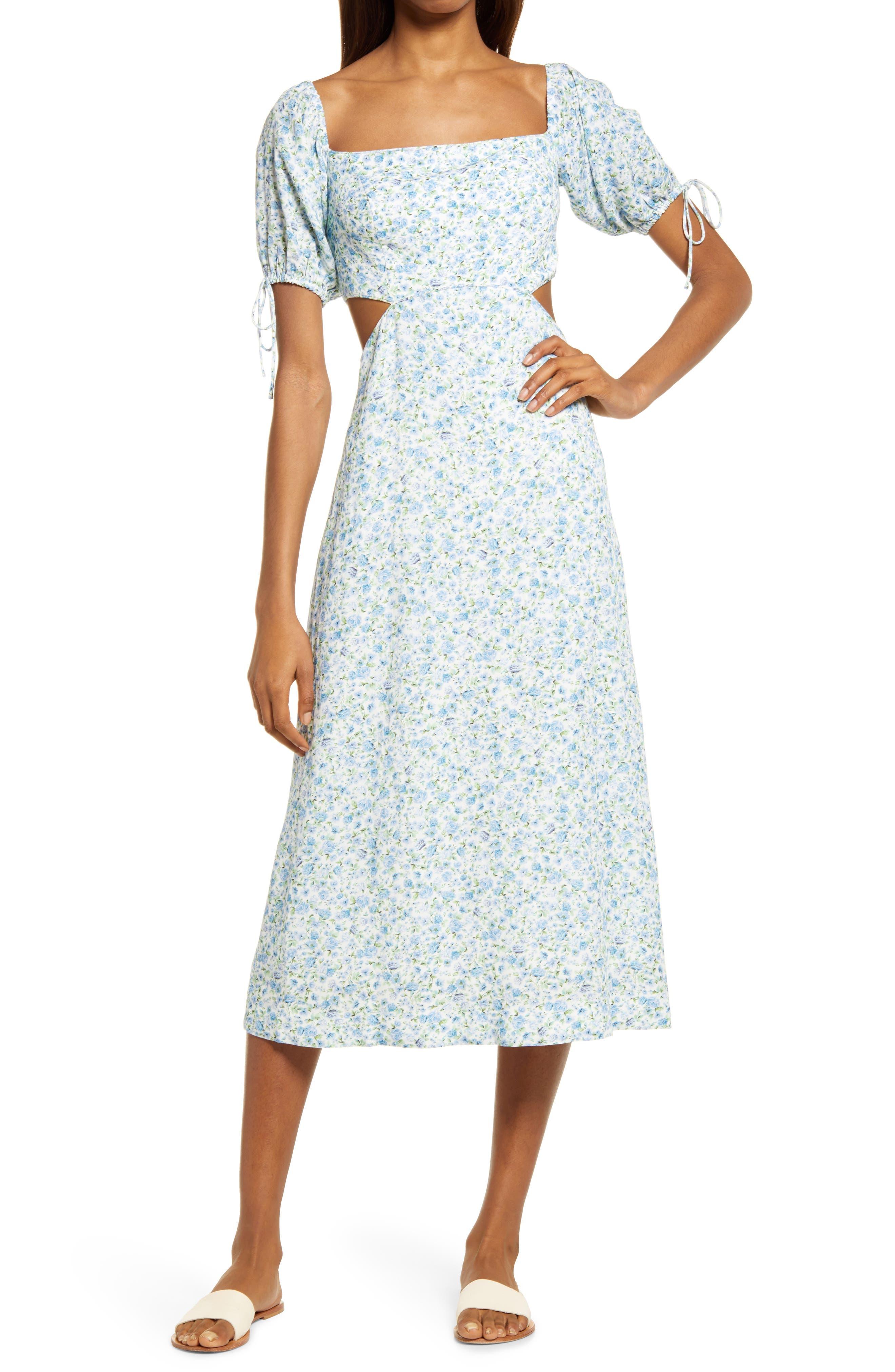Square Neck Cutout Dress