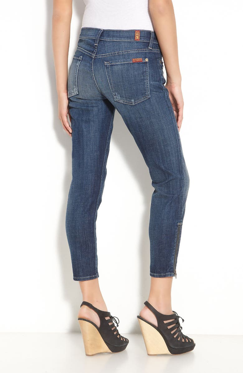 7 FOR ALL MANKIND<SUP>®</SUP> Skinny Crop Stretch Jeans, Main, color, 400