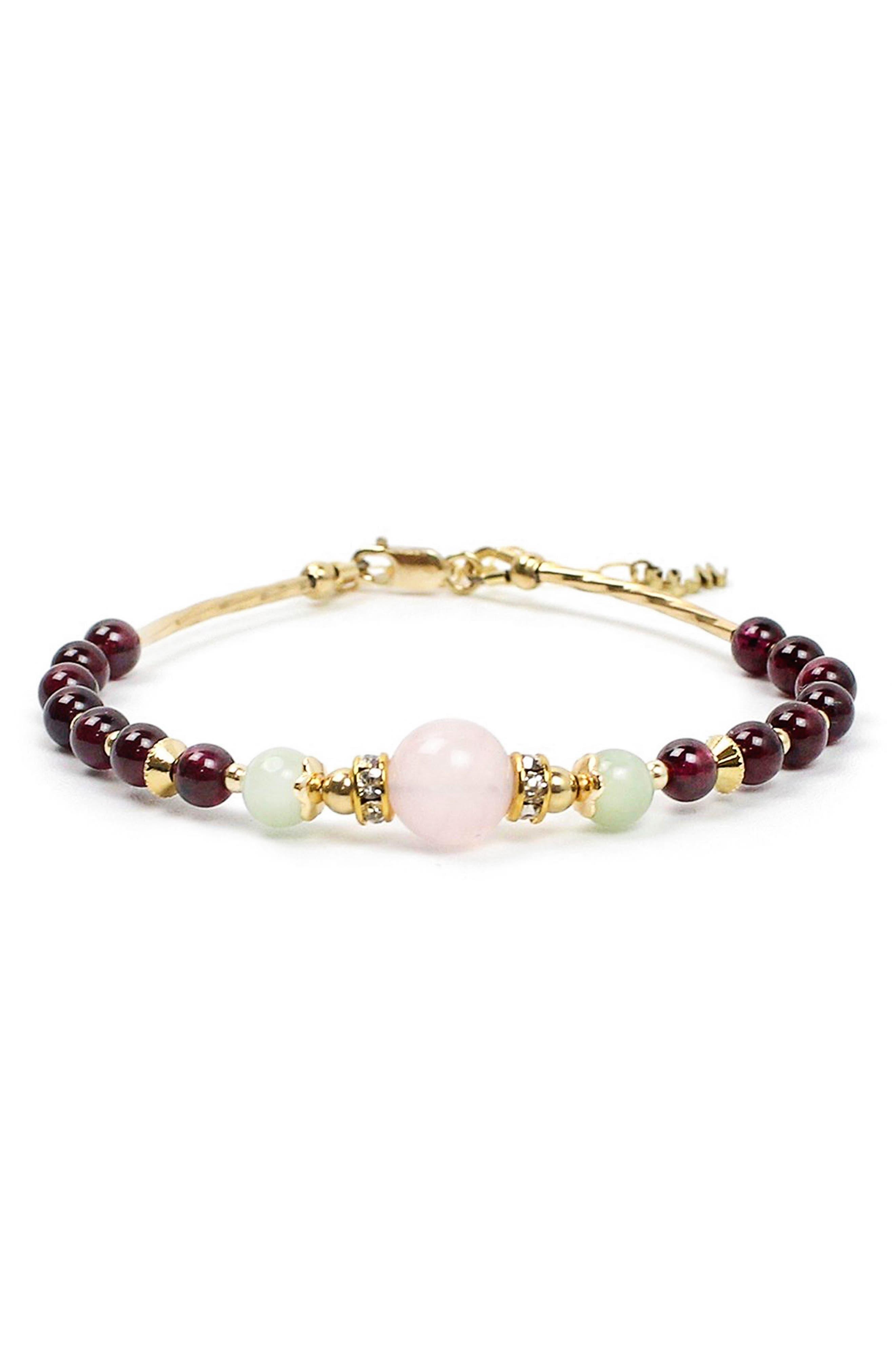Rosebud Beaded Bracelet