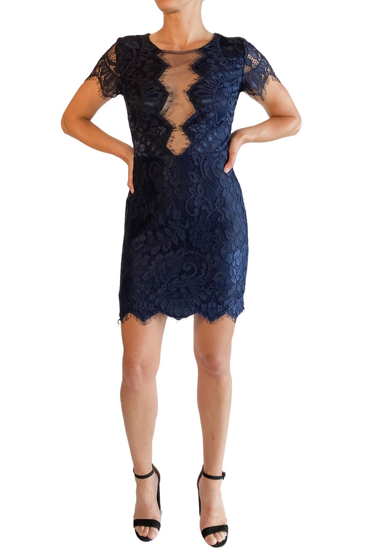 Image of Love by Design Lace Inset Mini Dress