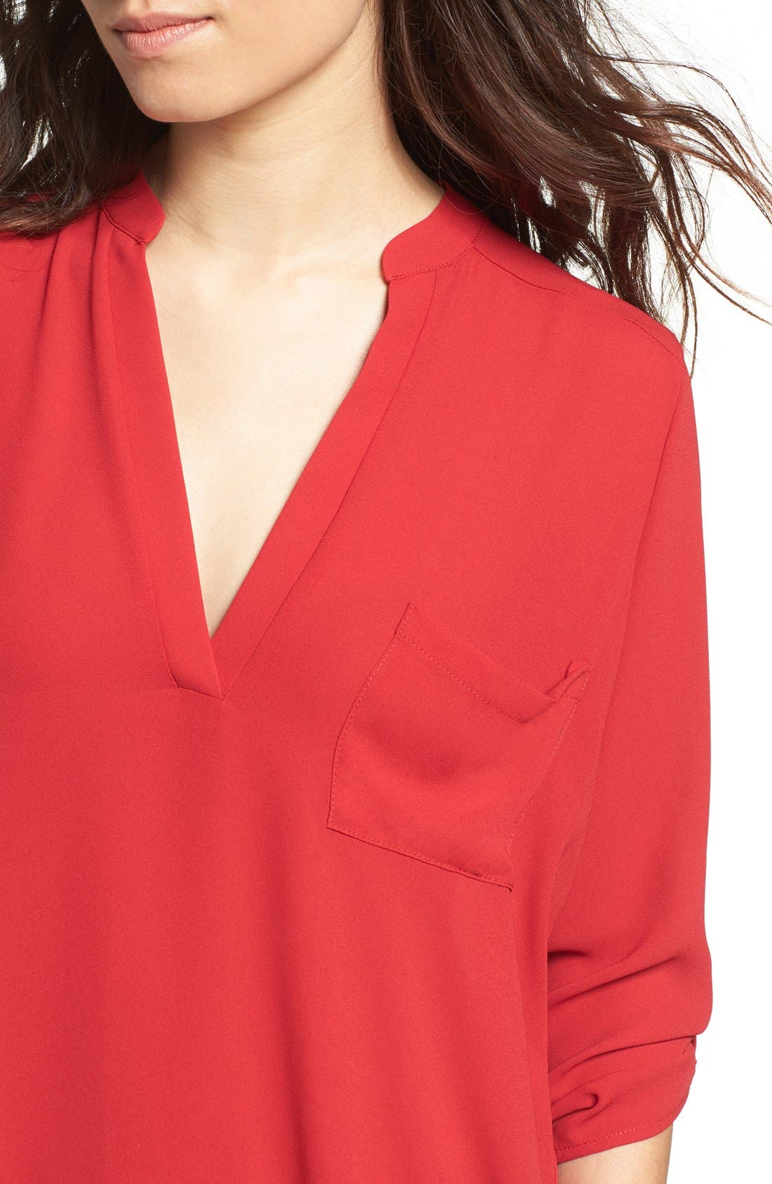 ,                             Perfect Roll Tab Sleeve Tunic,                             Alternate thumbnail 351, color,                             642