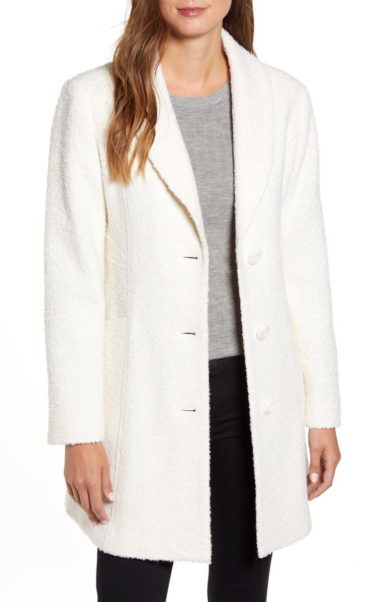 GALLERY Bouclé Coat, Main, color, CREAM