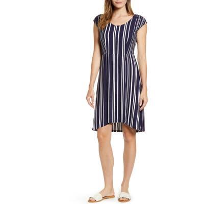 Tommy Bahama Anoche Stripe A-Line Dress, Black