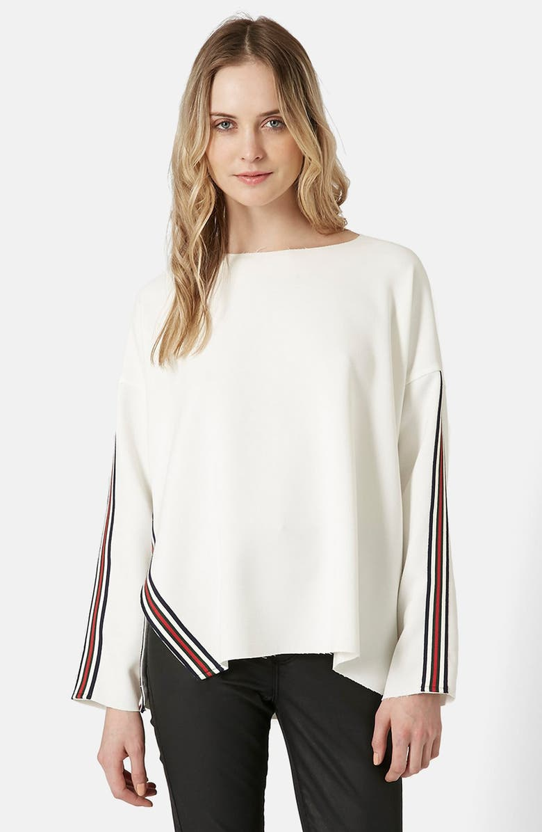 TOPSHOP Contrast Stripe Sweater, Main, color, 900