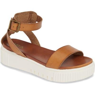 Mia Lunna Platform Ankle Strap Sandal, Brown