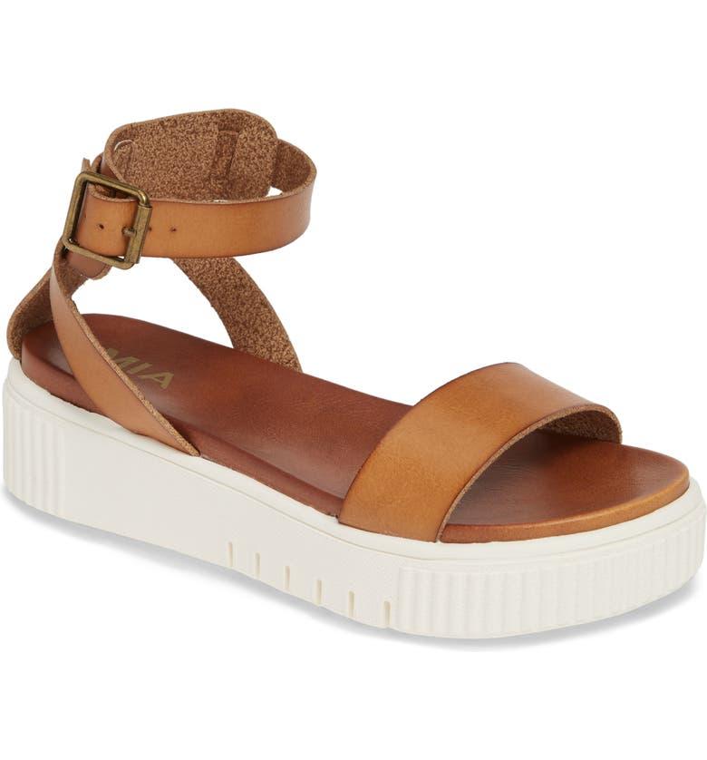 MIA Lunna Platform Ankle Strap Sandal, Main, color, NATURAL
