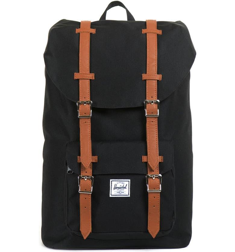 HERSCHEL SUPPLY CO. Little America - Mid Volume Backpack, Main, color, BLACK