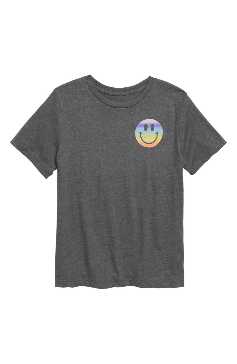 MIGHTY FINE We Are the Future T-Shirt, Main, color, HEATHER CHARCOAL